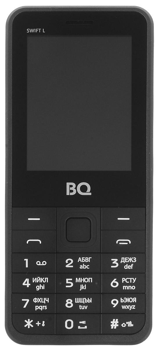 BQ 2411 Swift L, Dark Gray85953595BQ 2411 Swift L - простой и удобный кнопочный телефон с металлической задней крышкой, защищающей его от ударов и падений. Благодаря поддержке двух SIM-карт вы сможете подобрать оптимальные тарифные планы мобильных операторов.Встроенный FM-приёмник позволяет прослушивать радио-каналы. Кроме того, с помощью этого телефона вы также сможете слушать музыку. Устройство поддерживает карты памяти до 16 Гб, что позволит вам сохранить множество музыкальных композиций.Телефон также поддерживает технологию Bluetooth, что даёт возможность передавать файлы без помощи кабеля.Телефон сертифицирован EAC и имеет русифицированную клавиатуру, меню и Руководство пользователя.