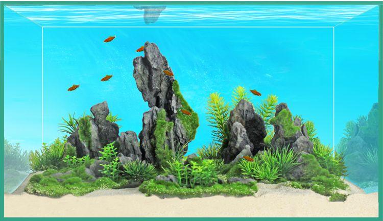 Композиция Meijing Aquarium Акваскейпинг, состоит 2 частей. YS-17114YS-17114