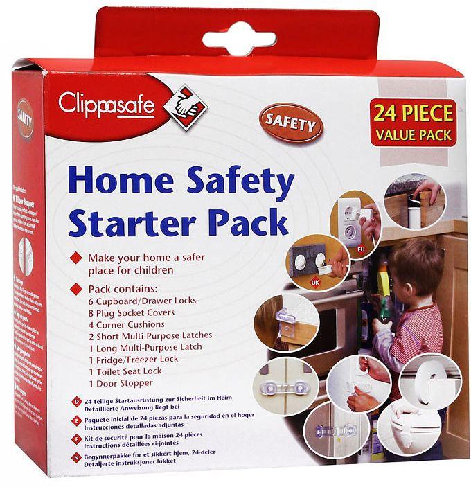 Clippasafe Набор защиты цвет белый прозрачный 24 предмета
