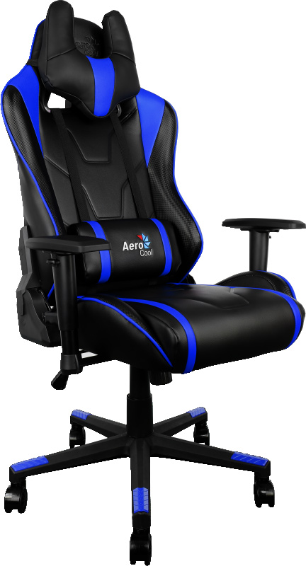 Aerocool AC220-BB, Black Blue игровое кресло428432Игровое кресло Aerocool AC220 по внешнему виду напоминает сидение спортивной машины. С ним ваша комната превратится в настоящий геймерский болид. Почувствуйте мягкость качественной искусственной кожи и рельеф отделки под углеволокно. Захотелось немного вздремнуть, чтобы повысить продуктивность, встряхнуть свою память и пополнить запасы энергии? Просто откиньте спинку кресла на 180°, ложитесь поудобнее и наслаждайтесь легким сном или отдыхом. Настоящее гоночное кресло (с гоночными полосами!) и поддерживающей набивкой во всех точках контакта с телом пользователя. Оно готово обеспечить долгие часы комфортной игры!Это игровое кресло идеально подходит геймерам ростом от 160 до 185 сантиметров. Благодаря пневматическому приводу высоту сидения легко можно подстроить под высоту стола или экрана монитора. Кроме того, сидение вращается на 360 градусов и наклоняется под нужным пользователю углом, если замок механизма наклона разблокирован.Чтобы наслаждаться любимыми играми часами и не уставать, подлокотники кресла можно поднять на нужную высоту и развернуть в любую удобную пользователю сторону.