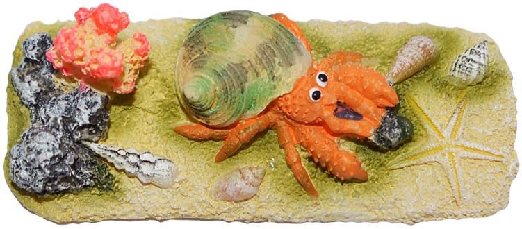Грот-композиция Meijing Aquarium Крабик с ракушками. EB-213EB-213Аквариумный грот – это отличный элемент дизайна. Оригинальные аквариумные украшения придают подводному ландшафту завершенный вид, что крайне важно, ведь одной из главнейших функций аквариума в интерьере является функция эстетическая. Но декорация-грот – это еще и прекрасное укрытие для рыбок и иных обитателей подводного мира. Особенно – в том случае, если кто-либо из ваших питомцев проявляет излишнюю агрессивность по отношению к соседям. В таком случае грот для аквариума окажется совершенно незаменимым. Грот Meijing Aquarium прекрасно впишется в любой интерьер аквариума. А в сочетании с другими элементами декора сделает среду обитания ваших рыбок максимально приближенной к морской среде. Декорация абсолютно безвредна для рыб и растений. Грот тонет и не требует дополнительной фиксации в аквариуме. Может использоваться как в пресной, так и в морской воде. Изделие не токсично, не тускнеет и не теряет цвета, краска не облазит.