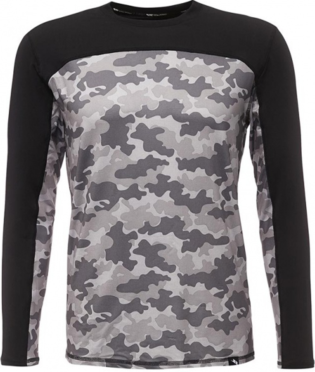 Термобелье футболка мужская Trespass Drill, цвет: камуфляж. MABLTPM20005. Размер M (50)MABLTPM20005Термобелье Trespass Drill предназначено для повседневной носки в прохладную погоду. Изделие хорошо тянется и отлично сохраняет тепло. Повышенная эластичность позволяет комфортно двигаться. Благодаря полиэстеру изделие приятно на ощупь, позволяет коже дышать, хорошо впитывает влагу, не электризуется. Эластан входящий в состав имеет очень высокую степень эластичности, хорошо сохраняет форму изделия, повышая его износостойкость, и прекрасно садится по фигуре. Термобелье незаметно под любой, самой тонкой одеждой и обеспечивает надежную защиту от холода и ветра.