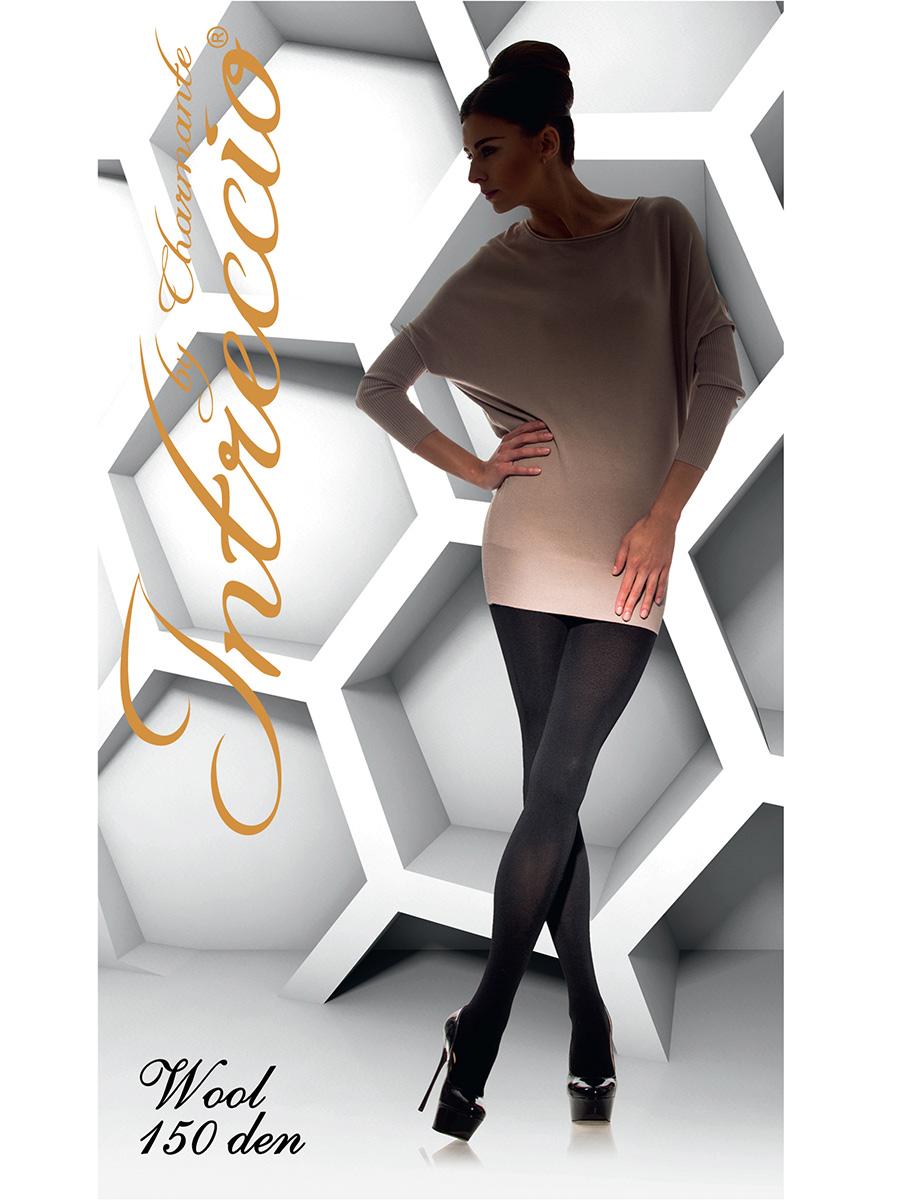 Колготки женские Intreccio Wool 150, цвет: Nero (черный). Размер 1/2 носки 2 пары 20 den intreccio цвет черный