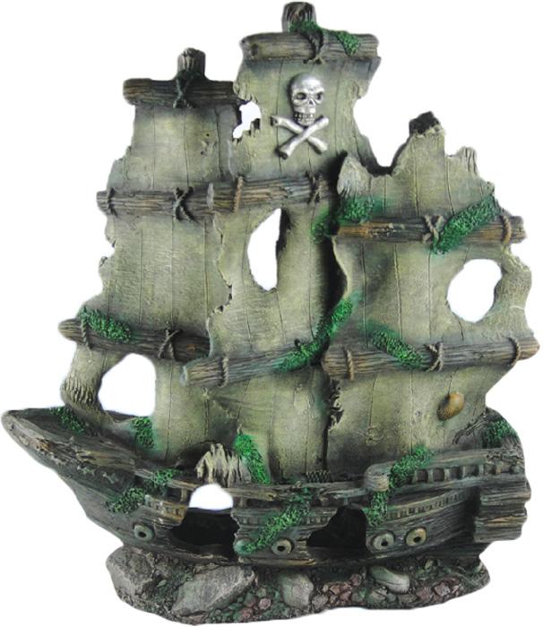 Грот Meijing Aquarium  Затонувший пиратский корабль . YM-834B - Аксессуары для аквариумов