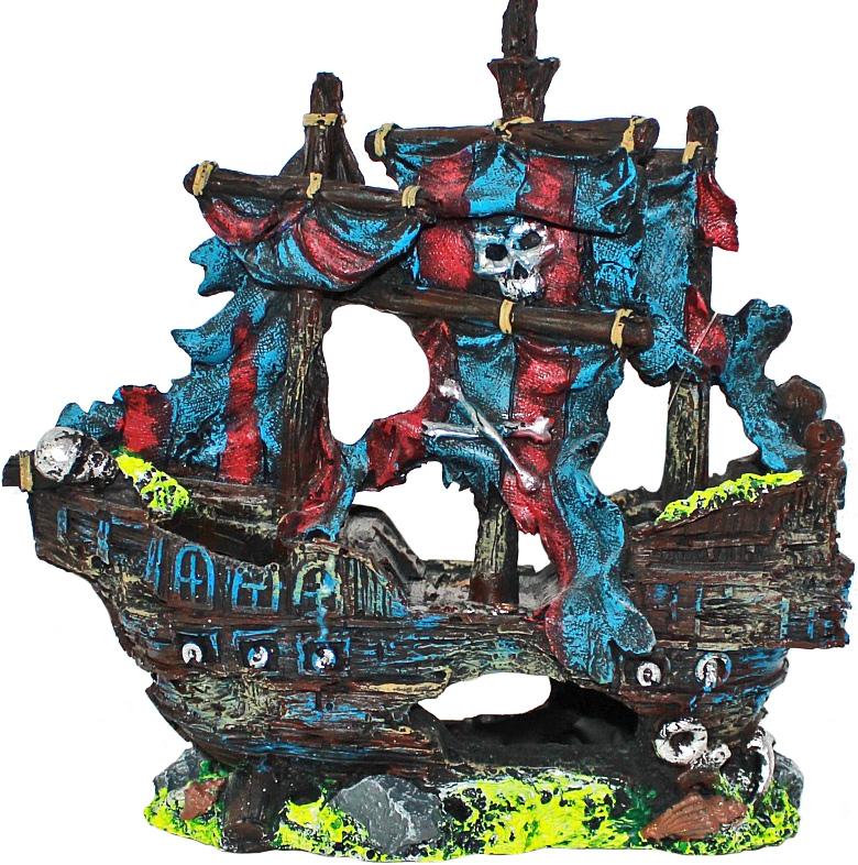 Грот Meijing Aquarium  Затонувший корабль . YM-0803A - Аксессуары для аквариумов