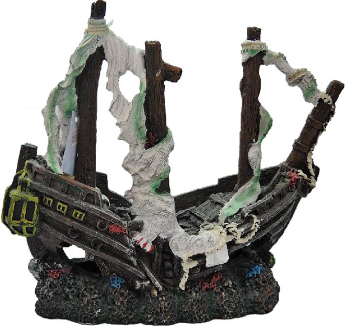 Грот Meijing Aquarium Затонувший корабль. YM-810 игровые наборы море чудес набор грот русалочки