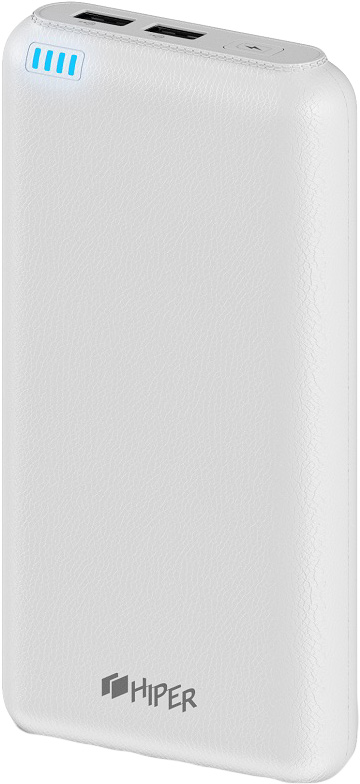 HIPER Power Bank SP20000, White внешний аккумулятор (20000 мАч) universal 5200mah external li ion battery charger power bank w led indicator usb cable white
