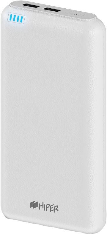 Внешний аккумулятор HIPER Power Bank SP20000, White (20000 мАч)SP20000 WHITEЕмкость: 20000 мАчМаксимальный выходной ток: 2.1A2 USB выходаИндикатор уровня заряда: ДаТип батареи: Li-IonМатериал корпуса: Пластик со стилизацией под натуральную кожуСовместимость: Смартфоны, Сотовые телефоны, Планшеты, Фотокамеры и другие устройства, поддерживающие зарядку через USB портЦвет: белый