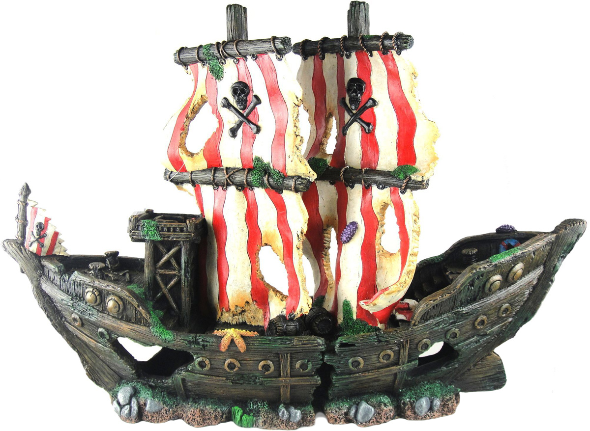 Грот Meijing Aquarium Затонувший пиратский корабль. YM-832SYM-832S