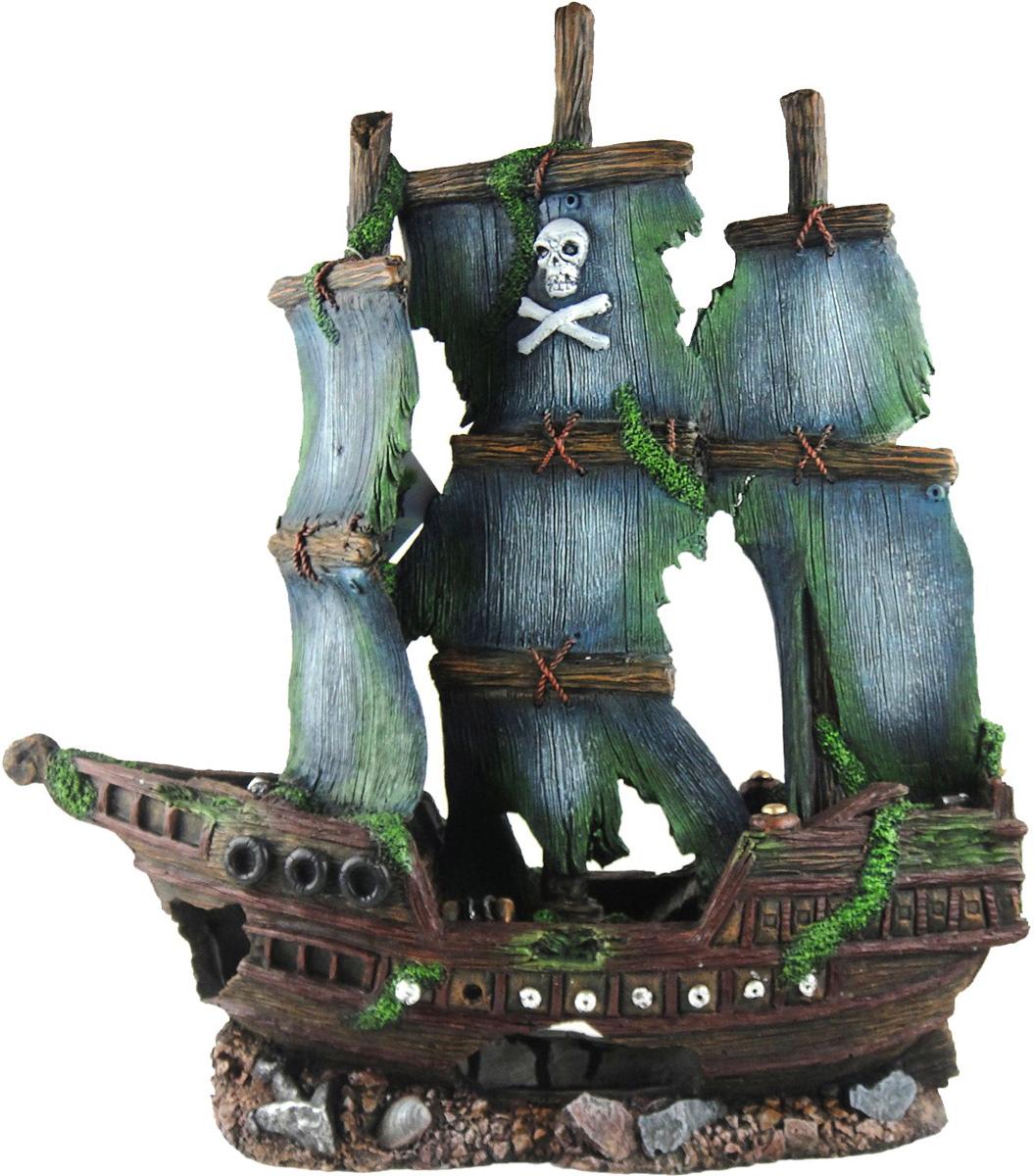 Грот Meijing Aquarium  Затонувший пиратский корабль . YM-833 - Аксессуары для аквариумов