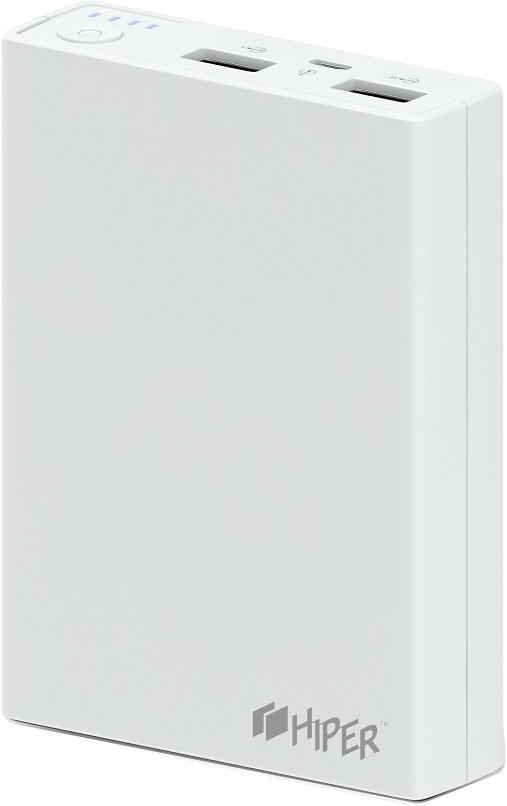 Внешний аккумулятор HIPER Power Bank RP10000, White (10000 мАч) внешний аккумулятор hiper power bank mp10000 black 10000 мач