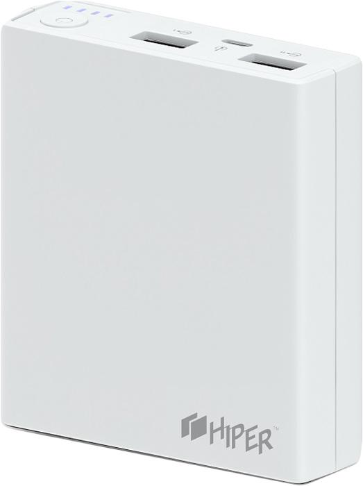 Внешний аккумулятор HIPER Power Bank RP7500, White (7500 мАч)RP7500 WHITEPower bank HIPER RP7500 Li-Ion 7500mAh 2.1A+1A white