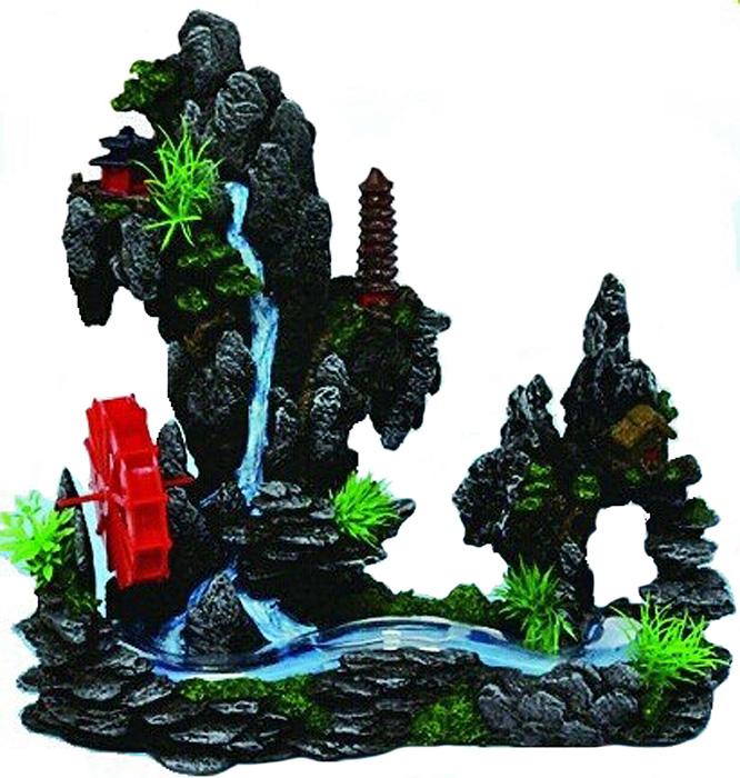 Грот Meijing Aquarium Водяная мельница и бегущий ручей. YM-08103 sharp sj f 95 stbe