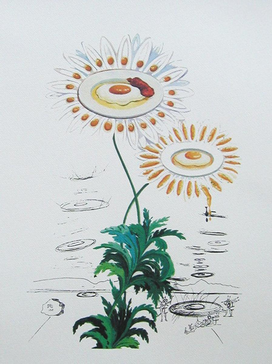 Маргаритки. Цветная литография. Сальвадор Дали. Серия FlorDali, 1979 год