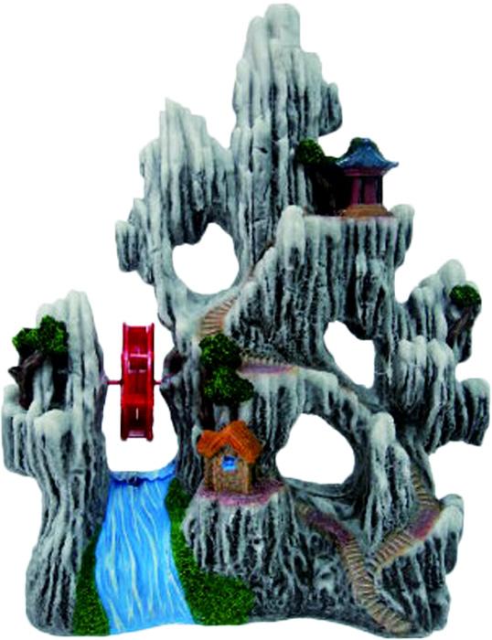 Грот Meijing Aquarium Белые скалы с водяной мельницей. YM-530AYM-530AАквариумный грот – это отличный элемент дизайна. Оригинальные аквариумные украшения придают подводному ландшафту завершенный вид, что крайне важно, ведь одной из главнейших функций аквариума в интерьере является функция эстетическая. Но декорация-грот – это еще и прекрасное укрытие для рыбок и иных обитателей подводного мира. Особенно – в том случае, если кто-либо из ваших питомцев проявляет излишнюю агрессивность по отношению к соседям. В таком случае грот для аквариума окажется совершенно незаменимым. Грот Meijing Aquarium прекрасно впишется в любой интерьер аквариума. А в сочетании с другими элементами декора сделает среду обитания ваших рыбок максимально приближенной к морской среде. Декорация абсолютно безвредна для рыб и растений. Грот тонет и не требует дополнительной фиксации в аквариуме. Может использоваться как в пресной, так и в морской воде. Изделие не токсично, не тускнеет и не теряет цвета, краска не облазит.