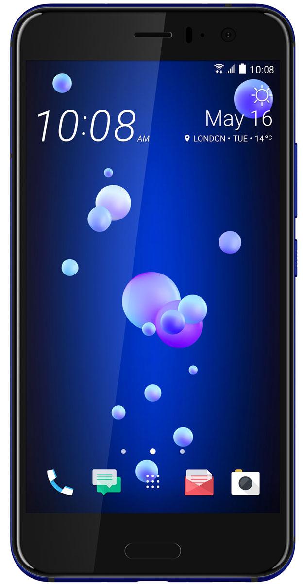 HTC U11 128GB, Sapphire BlueU11_128GBСтеклянное покрытие с потрясающим переливающимся дизайном, камера с новым сверхбыстрым автофокусом UltraSpeed Autofocus от HTC, получившая одну из самых высоких в индустрии оценок DxOMarksi, самое чистое доступное на рынке звучание с системой активного подавления внешних шумов, удивительно красивый корпус с защитой от воды и брызг - все это HTC U11.Впечатляющая стеклянная поверхность с переливающимся дизайном создана с применением технологии многослойного покрытия с эффектом преломления света. В ходе производства в стекло задней поверхности корпуса устройства на разную глубину вводятся минералы с различной степенью переотражения света. Именно так удается добиться поразительно насыщенных цветов, которые получаются преломлением окружающего света в зависимости от положения корпуса смартфона.Для создания нового цельного изогнутого корпуса HTC U11 используется особый процесс формовки стекла с применением экстремального давления и высокой температуры. Это непростая задача. В результате удалось создать устройство с симметричной конструкцией по всем трем осям. Неважно держишь ли ты его в правой или левой руке, вертикально или горизонтально. Изогнутое 3D стекло на фронтальной и задней поверхностях корпуса смартфона делает конструкцию не только визуально привлекательной, но и удобной в использовании.Экран HTC U11 с диагональю 5.5 выполнен из 3D стекла и специально разработан для передачи насыщенной, четкой картинки. Лучший на сегодняшний момент экран от HTC и естественная цветопередача производят яркое и неискажённое впечатление. Тебе не придётся привыкать к обрезанным изображениям или артефактам цвета по краям экрана, как это часто происходит в случае устройств с изогнутым экраном.Функция Edge Sense значительно расширяет возможности смартфона. Ты сможешь настроить доступ к широкому набору функций и приложений. Одним нажатием открыть Facebook, Twitter или Pinterest. Или вызвать мощного голосового помощника Google Ассистент! Слегка сожмите 