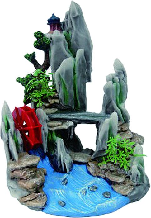 Грот Meijing Aquarium Водяная мельница в скалах с ручьем. YM-625YM-625Аквариумный грот – это отличный элемент дизайна. Оригинальные аквариумные украшения придают подводному ландшафту завершенный вид, что крайне важно, ведь одной из главнейших функций аквариума в интерьере является функция эстетическая. Но декорация-грот – это еще и прекрасное укрытие для рыбок и иных обитателей подводного мира. Особенно – в том случае, если кто-либо из ваших питомцев проявляет излишнюю агрессивность по отношению к соседям. В таком случае грот для аквариума окажется совершенно незаменимым. Грот Meijing Aquarium прекрасно впишется в любой интерьер аквариума. А в сочетании с другими элементами декора сделает среду обитания ваших рыбок максимально приближенной к морской среде. Декорация абсолютно безвредна для рыб и растений. Грот тонет и не требует дополнительной фиксации в аквариуме. Может использоваться как в пресной, так и в морской воде. Изделие не токсично, не тускнеет и не теряет цвета, краска не облазит.