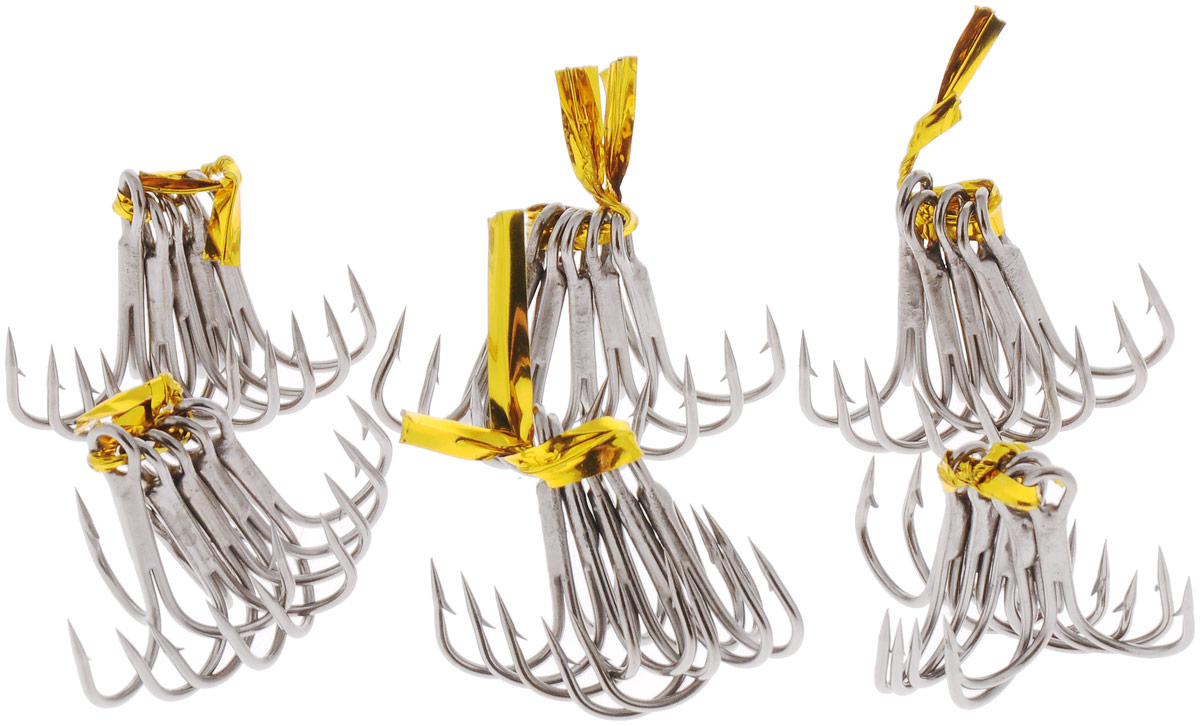 Крючок рыболовный SWD Scorpion, тройной, №6, 30 шт