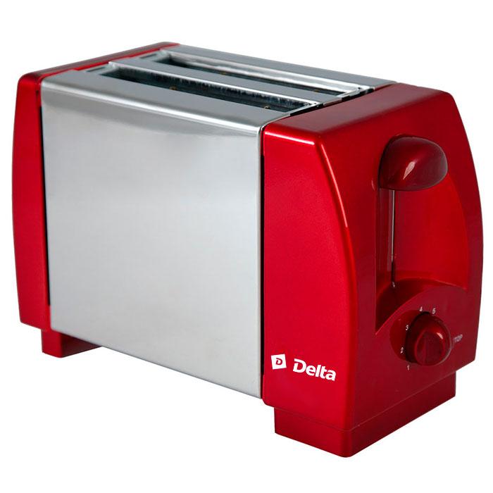 Delta DL-96, Bordo тостер0R-00000671Тостер DELTA DL-96 Максимальная мощность 750 Вт Количество тостов 2Корпус из пластика и нержавеющей стали 7-позиционный таймер Кнопка отмены Плавное регулирование степени поджаривания тостов Цвет: бордовый