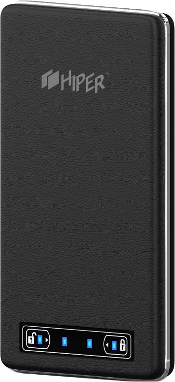 HIPER XP10500, Black внешний аккумулятор (10500 мАч)XP10500 BLACKВнешний аккумулятор Hiper Power Bank XP10500 помогает владельцу всегда оставаться на связи благодаря литий-полимерной батарее емкостью 10500 мАч.Такое устройство поможет подзарядить батареи большинства смартфонов, планшетов, навигаторов и MP3-плееров. Тонкий корпус внешнего аккумулятора выполнен из прочного пластика, текстурированого под натуральную кожу. А золотая металлическая рамка придает дополнительную элегантность.На лицевой стороне находится сенсорная панель включения/выключения устройства, совмещенная с индикатором заряда. Внешний аккумулятор оборудован двумя USB-разъемами для подключения сразу нескольких устройств.