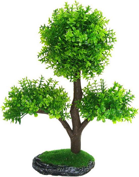 Грот Meijing Aquarium Дерево Бонсай на камне, 24 см. EO24003EO24003Великолепное искусственное дерево, выполненное из пластика высшего качества, станетотличной декорацией в вашем аквариуме. Гроты абсолютно не токсичны, не требуют никакойдополнительной обработки перед установкой в аквариум.С их помощью можно сделатьаквариум в стиле японского минимализма, установив такое высокое дерево в один крайаквариума и оппонировать ему невысокими камнями, например «Сталагмит», в таком случаебольшую часть пространства аквариума останется для рыб. Или использовать такое дерево ввиде центральной композиции, обыграть его прочими гротами, например, искусственнымикорягами и камнями, и различными искусственными растениями, тогда у вас получится богатыйкрасочный пейзаж.