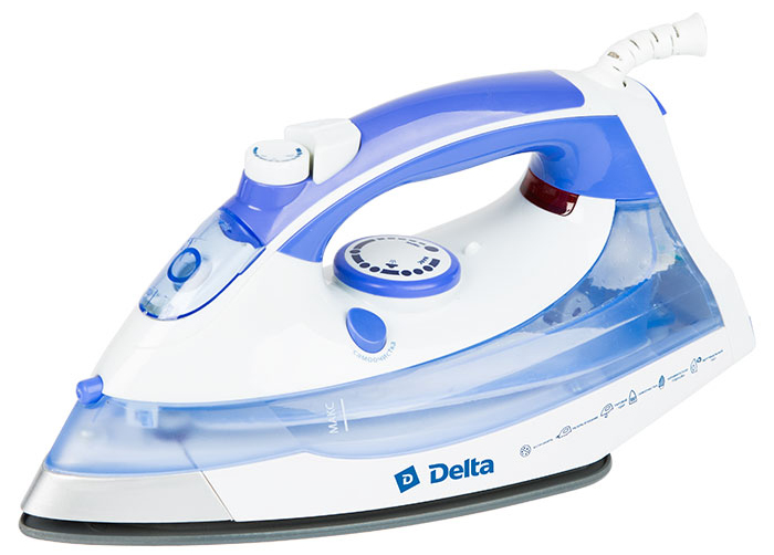 Delta DL-711, White Purple утюг утюг delta lux dl 710 white blue