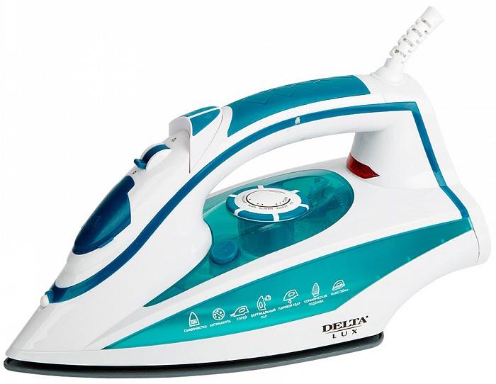 Delta LUX DL-352, Turquoise утюг утюг delta lux dl 556 white crimson