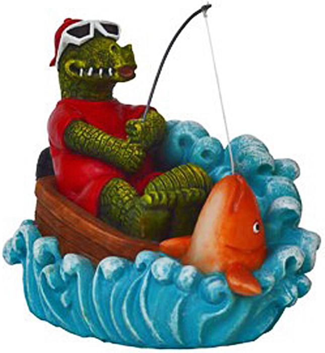 Грот Meijing Aquarium Крокодил на рыбалке. MJA-013 игровые наборы море чудес набор грот русалочки