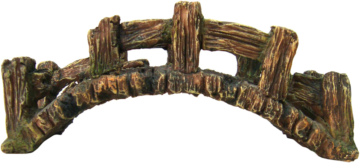 Грот Meijing Aquarium Мост. WR-111WR-111Аквариумный грот – это отличный элемент дизайна. Оригинальные аквариумные украшения придают подводному ландшафту завершенный вид, что крайне важно, ведь одной из главнейших функций аквариума в интерьере является функция эстетическая. Но декорация-грот – это еще и прекрасное укрытие для рыбок и иных обитателей подводного мира. Особенно – в том случае, если кто-либо из ваших питомцев проявляет излишнюю агрессивность по отношению к соседям. В таком случае грот для аквариума окажется совершенно незаменимым. Грот Meijing Aquarium прекрасно впишется в любой интерьер аквариума. А в сочетании с другими элементами декора сделает среду обитания ваших рыбок максимально приближенной к морской среде. Декорация абсолютно безвредна для рыб и растений. Грот тонет и не требует дополнительной фиксации в аквариуме. Может использоваться как в пресной, так и в морской воде. Изделие не токсично, не тускнеет и не теряет цвета, краска не облазит.