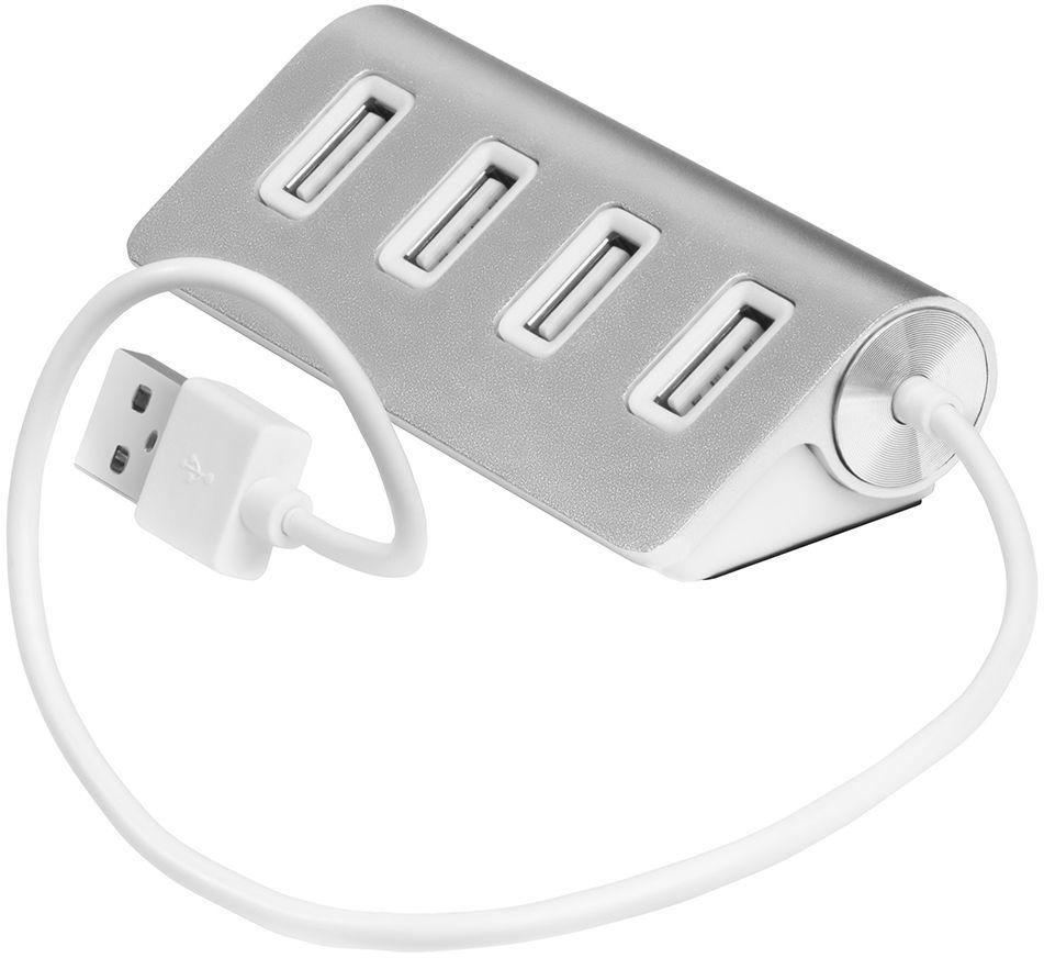 GCR UH224, Silver USB-концентраторGCR-UH224S4-портовый USB 2.0 концентратор GCR UH224 может разветвить один порт USB 2.0 вашего компьютера на 4 порта, к которым вы сможетеодновременно подключить различные устройства USB. Экранирование кабеля позволит защитить сигнал при передаче от влияния внешних полей,способных создать помехи.
