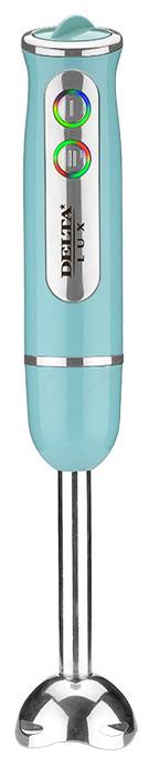 Delta LUX DL-7039, Blue блендер0R-00001830Блендер Delta Lux DL-7039Индикатор сети с LED-подсветкой кнопокНасадка и нож из нержавеющей стали с 4 лезвиямиПлавная регулировка скоростиРежим «ТУРБО»Цвет: голубойАксессуарыНасадка для измельчения и перемешивания