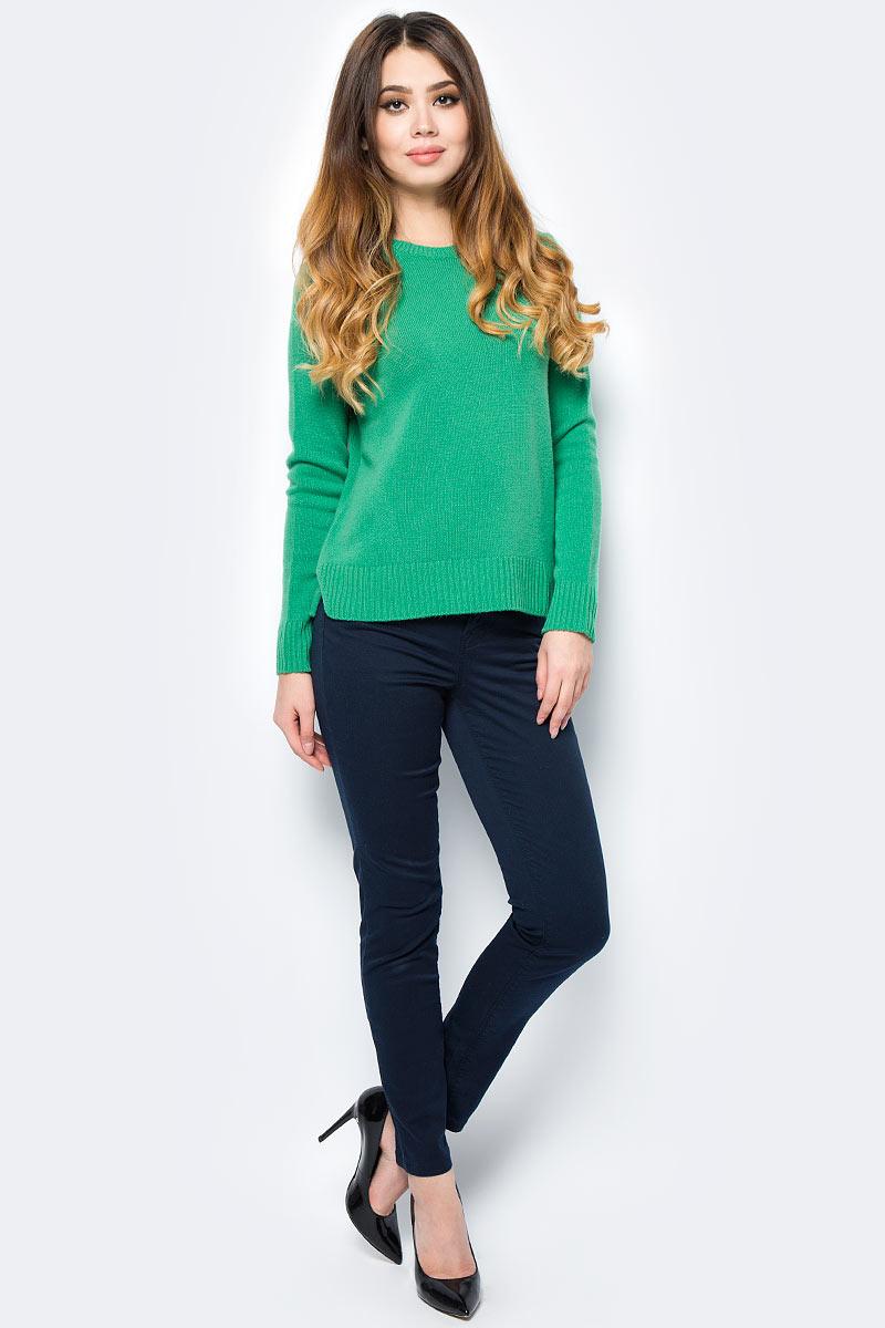 Свитер жен United Colors of Benetton, цвет: зеленый. 1202D1D93_07K. Размер S (42/44)1202D1D93_07K