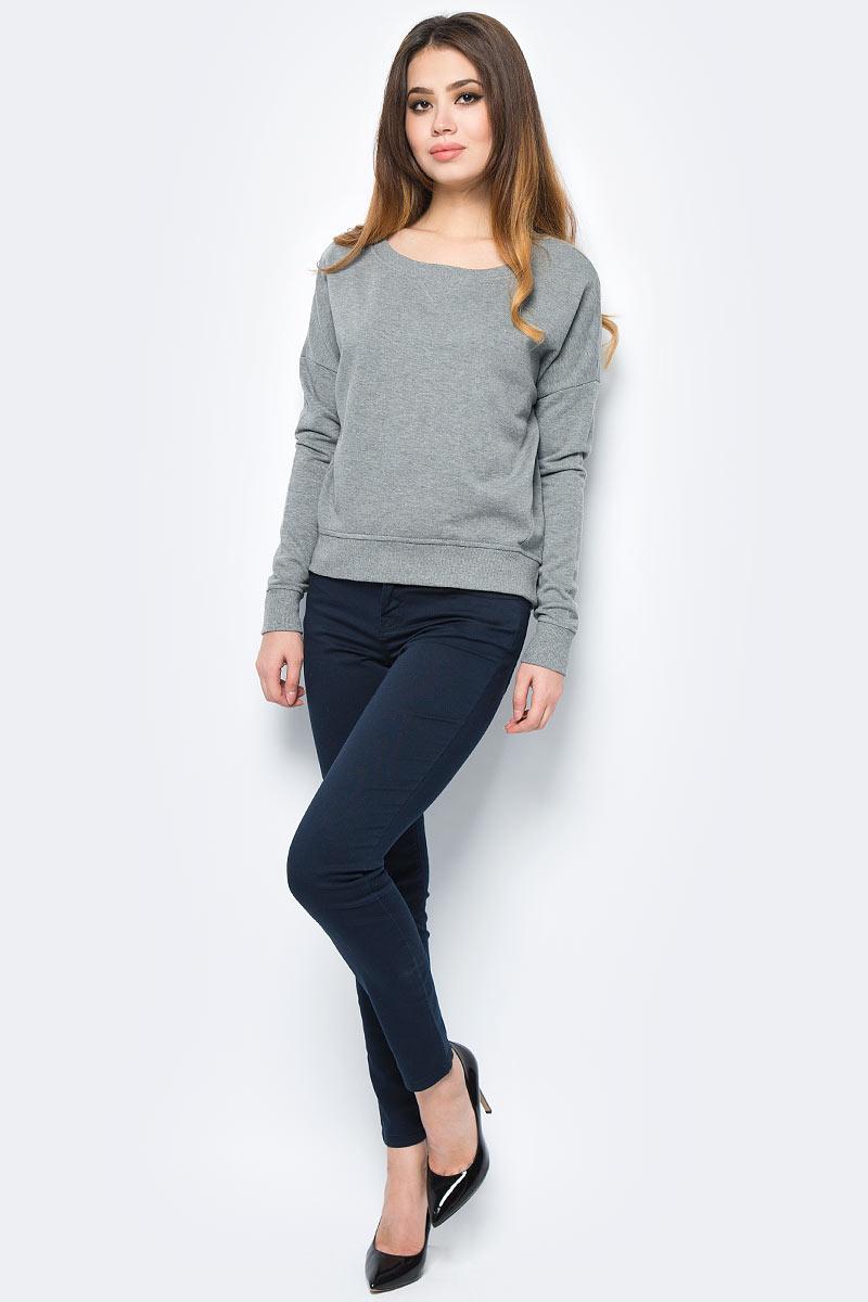 Свитер жен United Colors of Benetton, цвет: серый. 3MF2E1L66_507. Размер S (42/44)3MF2E1L66_507