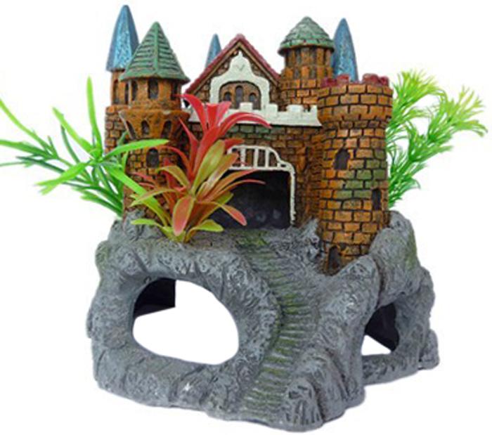 """Фото Грот Meijing Aquarium """"Крепость с растениями"""". AC-077"""