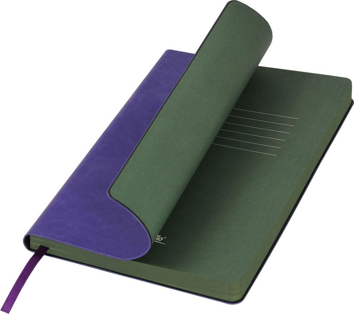 Portobello Trend Ежедневник недатированный River Side 128 листов цвет фиолетовый зеленыйLXX1501256-034Гибкая обложка выполнена из материала с эффектом «венецианской штукатурки». На ощупь прослеживается мелкий рельеф. Фактура – глянцевая. Тон за счет фактуры может меняться в зависимости от освещения. Цвет форзацев контрастный и яркий. Ляссе в цвет форзаца.