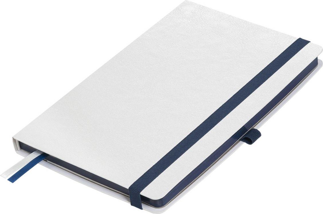 Portobello Trend Ежедневник недатированный Arctic 128 листов цвет белый темно-синийLXX1601261-030Жесткая обложка белого цвета. Эффектно выглядит сочетание базового белого цвета обложки с яркими тонами форзаца и фольгированного среза.