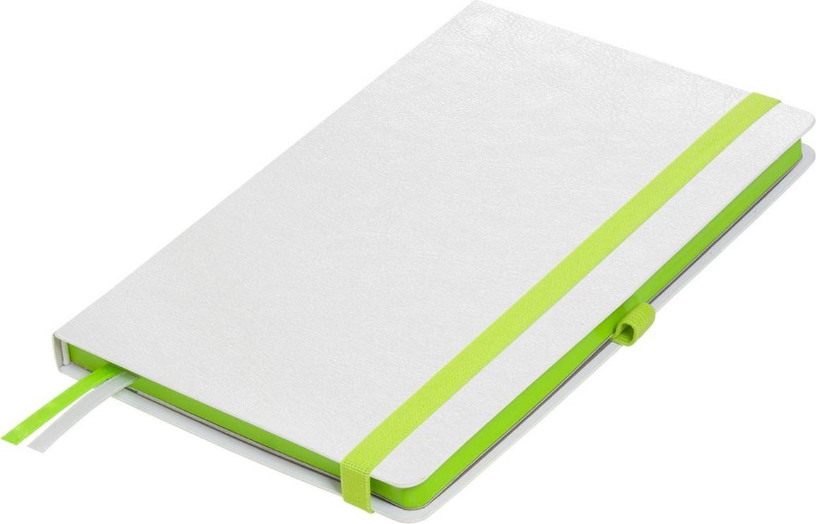 Portobello Trend Ежедневник недатированный Arctic 128 листов цвет белый зеленыйLXX1601261-040Жесткая обложка белого цвета. Эффектно выглядит сочетание базового белого цвета обложки с яркими тонами форзаца и фольгированного среза.