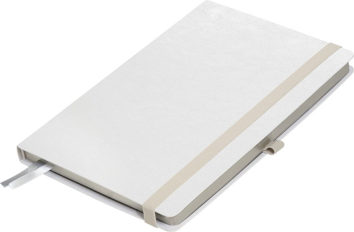 Portobello Trend Ежедневник недатированный Arctic 128 листов цвет белый платинаLXX1601261-080Жесткая обложка белого цвета. Эффектно выглядит сочетание базового белого цвета обложки с яркими тонами форзаца и фольгированного среза.