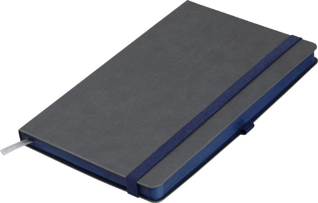 Portobello Trend Ежедневник недатированный Aurora 128 листов цвет серый темно-синий LXX1601262-030LXX1601262-030Жесткая матовая с легким блеском обложка, мелкий рельефный рисунок под кожу. Фактура на ощупь теплая и шелковистая.Особенностью коллекции является резинка-фиксатор контрастного к обложке цвета, срез и форзацы в цвет резинки.
