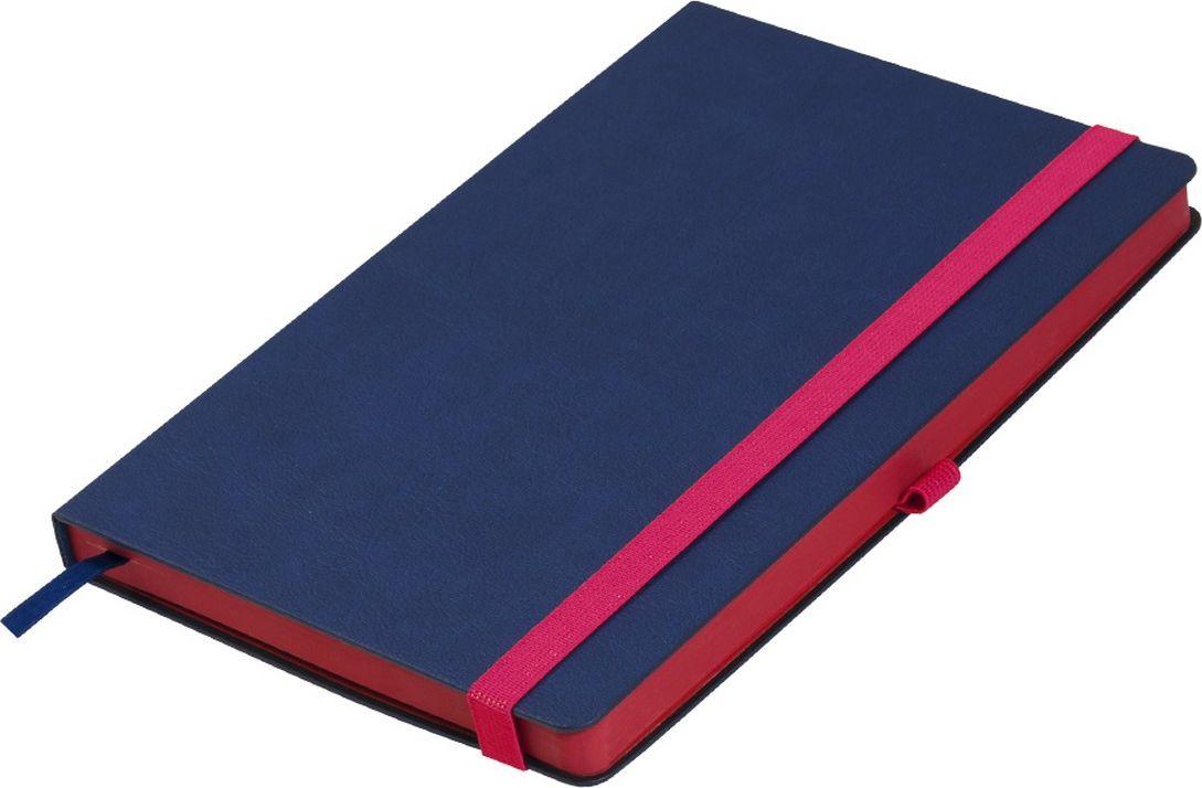 Portobello Trend Ежедневник недатированный Aurora 128 листов цвет синий красный LXX1601262-060LXX1601262-060Жесткая матовая с легким блеском обложка, мелкий рельефный рисунок под кожу. Фактура на ощупь теплая и шелковистая.Особенностью коллекции является резинка-фиксатор контрастного к обложке цвета, срез и форзацы в цвет резинки.