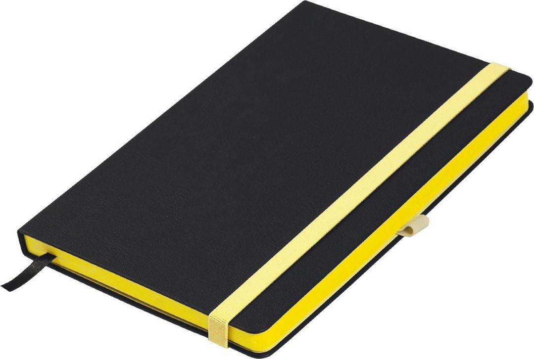 Portobello Trend Ежедневник недатированный Aurora 128 листов цвет черный желтый LXX1601262-075LXX1601262-075Жесткая матовая с легким блеском обложка, мелкий рельефный рисунок под кожу. Фактура на ощупь теплая и шелковистая.Особенностью коллекции является резинка-фиксатор контрастного к обложке цвета, срез и форзацы в цвет резинки.