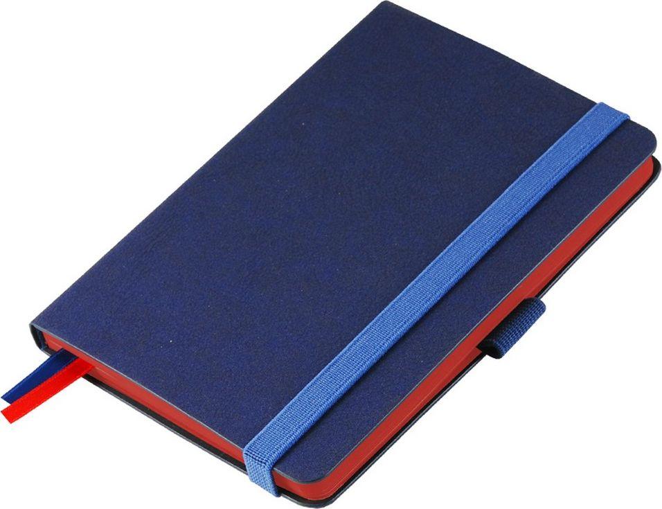 Portobello Trend Ежедневник недатированный Blue Ocean 88 листов цвет синий красныйLXX1621148-060Жесткая обложка синего цвета выполнена из материала новаторских технологий. Искусственная кожа тактильно похожа на фактуру бумаги - на ощупь шелковистая, с еле заметным рельефом хорошо выделанной гладкой кожи. Цвет – неоднородный, с переливами от очень темных до светлых тонов. Эффектно выглядит сочетание базового синего цвета обложки с яркими тонами форзаца и среза.
