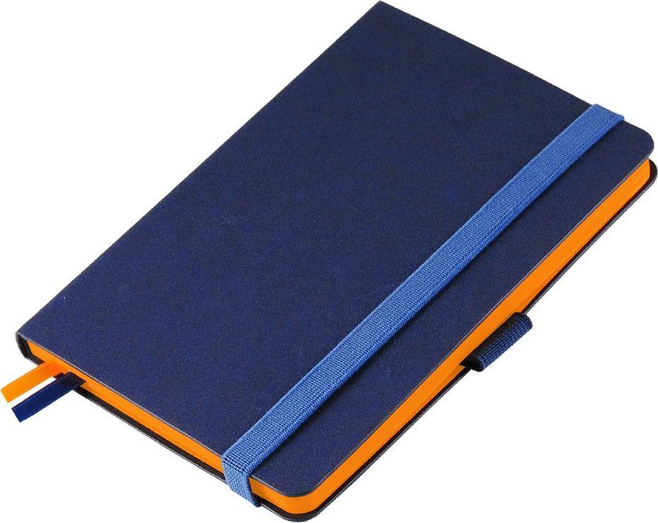 Portobello Trend Ежедневник недатированный Blue Ocean 88 листов цвет синий оранжевыйLXX1621148-070Жесткая обложка синего цвета выполнена из материала новаторских технологий. Искусственная кожа тактильно похожа на фактуру бумаги - на ощупь шелковистая, с еле заметным рельефом хорошо выделанной гладкой кожи. Цвет – неоднородный, с переливами от очень темных до светлых тонов. Эффектно выглядит сочетание базового синего цвета обложки с яркими тонами форзаца и среза.
