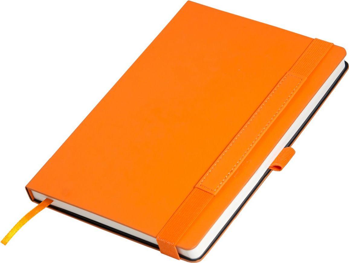 Portobello Trend Ежедневник недатированный Alpha 128 листов цвет оранжевый коричневыйLXX1701264-070Материал Alpha c эффектом Soft-Touch, жесткая обложка. Широкая резинка-фиксатор со вставкой из ПУ (дополнительное поле для персонализации), форзац и нахзац контрастный, без прокраса среза.