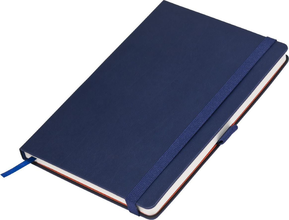 Portobello Trend Ежедневник недатированный Monte 128 листов цвет синий оранжевыйLXX1701265-030Материал: термо ПУ с эффектом натуральной кожи.Жесткая обложка синего цвета.Широкая резинка-фиксатор, форзац и нахзац контрастный,без прокраса среза,петелька под ручку.