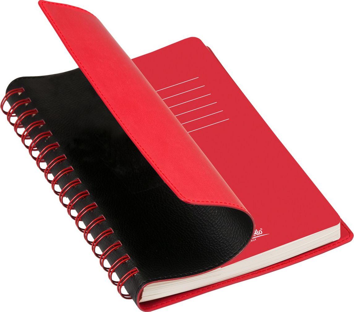 Portobello Trend Ежедневник недатированный Vista 128 листов цвет черный красныйLXX1701267-010-060Материал : Термо ПУ. Гибкая обложка (двойной ПУ), отстрочка по периметру, полускрытая пружина (окрашена в цвет внутренней обложки), цветной форзац, вкладыш с цветными стикерами, индивидуальная упаковка.