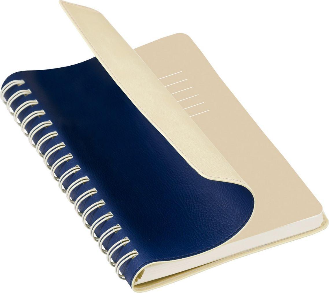 Portobello Trend Ежедневник недатированный Vista 128 листов цвет синий бежевыйLXX1701267-030-221Гибкая обложка (двойной ПУ), отстрочка по периметру, полускрытая пружина (окрашена в цвет внутренней обложки), цветной форзац, вкладыш с цветными стикерами, индивидуальная упаковка.
