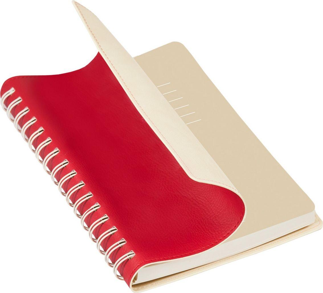 Portobello Trend Ежедневник недатированный Vista 128 листов цвет красный бежевыйLXX1701267-060-221Гибкая обложка (двойной ПУ), отстрочка по периметру, полускрытая пружина (окрашена в цвет внутренней обложки), цветной форзац, вкладыш с цветными стикерами, индивидуальная упаковка.