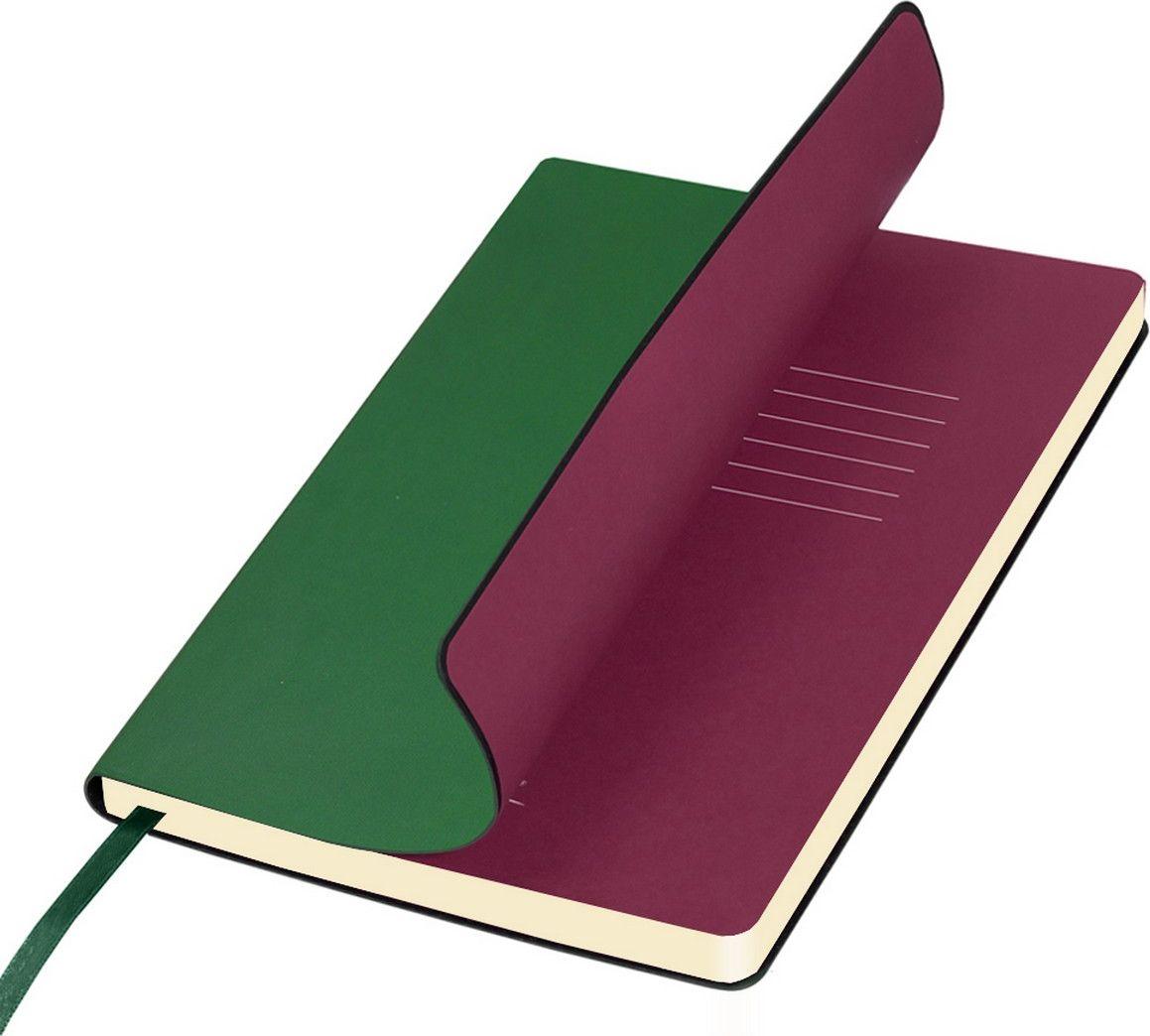 Portobello Trend Ежедневник недатированный Sky 128 листов цвет зеленыйLXX1401141-040/1Мягкая обложка выполнена из материала «вельвет» с чуть заметно проступающей фактурой нубука.На ощупь гладкая. Форзацы – цветные. Цвета-компаньоны форзацев и срезов подобраны идеально, что предполагает гармоничное визуальное восприятие. Срез ежедневника не окрашен.