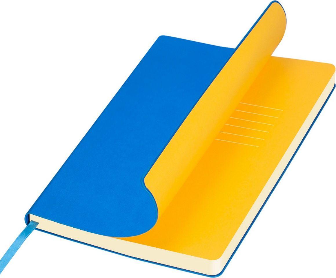 Portobello Trend Ежедневник недатированный Sky 128 листов цвет лазурный желтыйLXX1401141-240/1Мягкая обложка выполнена из материала вельвет с чуть заметно проступающей фактурой нубука. На ощупь гладкая. Форзацы – цветные. Цвета-компаньоны форзацев и срезов подобраны идеально, что предполагает гармоничное визуальное восприятие. Срез ежедневника не окрашен.